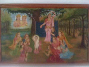 Dronning Maya Devi føder Prins Siddatha.