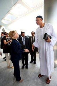 Kvium hilser på Mrs. Clinton i Abu Dhabi???