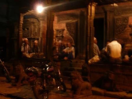 Hygge ved et af templerne