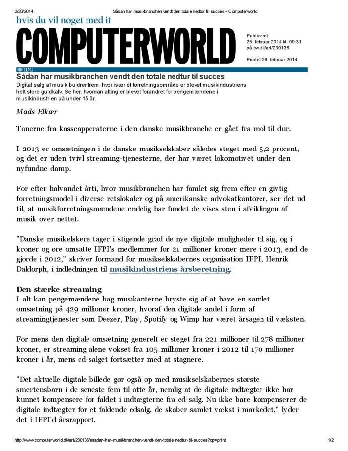 Sådan har musikbranchen vendt den totale nedtur til succes - Computerworld-page-001