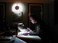 Et af de sjældne billeder af Ib Skovgaard. Fotograferet af Jens Rasmussen