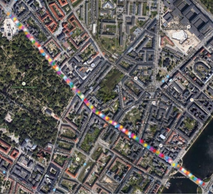 Verdens Største Kridtmaleri Nørrebrogade 2